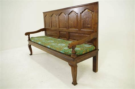 seating benches for sale 18th century scottish panelled back oak settle bench