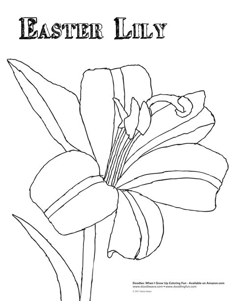 coloring pictures of easter lilies free easter coloring pages freecoloring4u