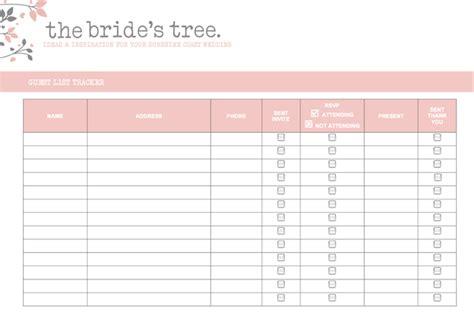 5  Wedding Invitation List Templates   Word Excel PDF