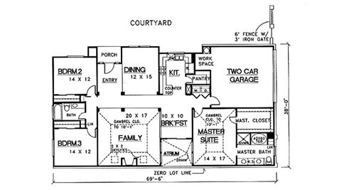 atrium ranch floor plans 32 best atrium ranch homes images on ranch