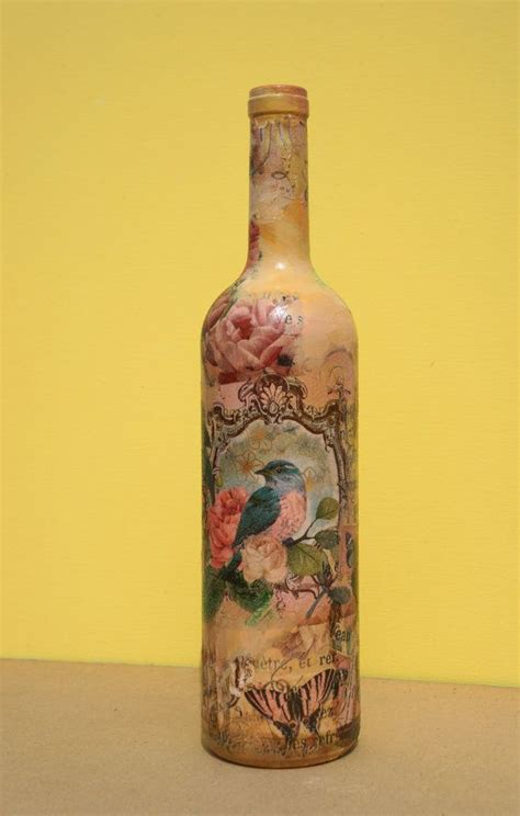 decoupage on glass bottles 25 best ideas about decoupage glass on