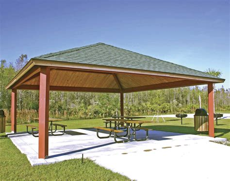 pavillon dach steel frame single roof forestview square pavilions