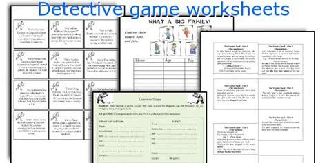printable detective games english teaching worksheets detective game