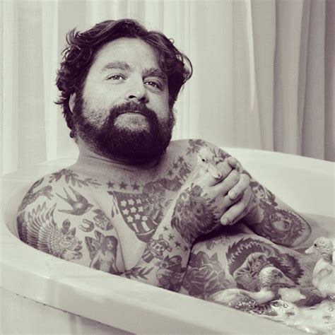 Song Lyrics Tattoo Zach Galifianakis | what celebrities would be like if they have tattoos