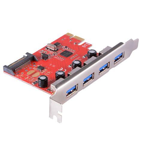 Pcie 1x 4 Ports Usb 3 0 Pci E Card Usb3 Konekt Diskon pci express to 4 ports usb 3 0 pcie card adapter