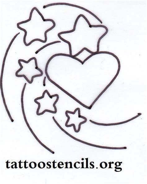 printable star tattoo designs free printable small stencils star tattoo shooting