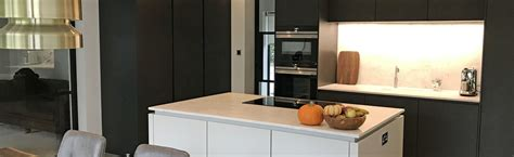 Contemporary Home Style contemporary platinum and carbon grey handle less leicht