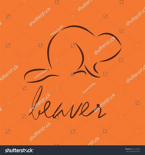 beaver template silhouette beaver template logo design vector stock vector