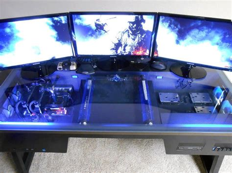 gaming computer desk setup best gamer setups and furniture