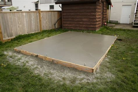 Garden Shed Slab by Coquitlam Shed Slab Coastal Concrete