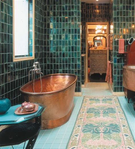 copper bathroom tiles turquoise tiles and copper tub colour trends 2015 2016