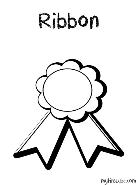 coloring page ribbon ribbons colouring pages