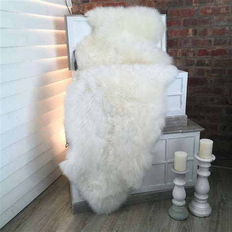 Ivory Sheepskin Rug by Luxury Ivory Sheepskin Rug By Cowshed Interiors Notonthehighstreet