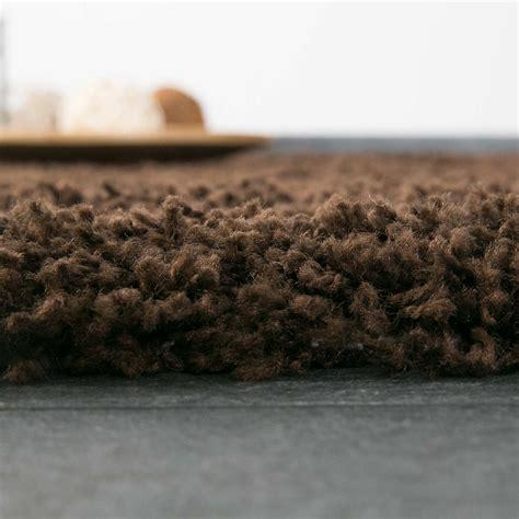 teppich hochflor shaggy teppiche langflor braun wohnzimmer - Teppiche Hochflor