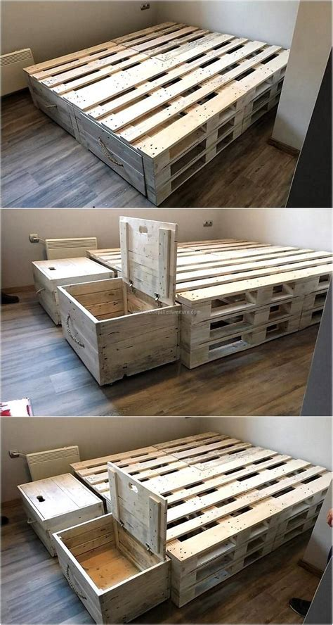 pallet bed frame plans 1314 best diy awesomenes images on pinterest easy diy