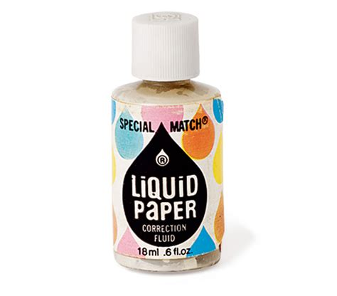 How To Make Liquid Paper - c 1960 liquid paper a made this white liq