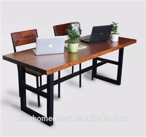 Hotel Dining Tables And Chairs American Household Wrought Iron Leisure Solid Wood Dining Desk And Chair Set Hotel Restaurant
