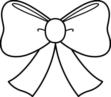 cute bow coloring page free clip art