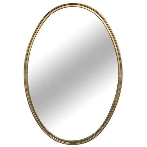 mirror shapes 1950s french brass oval shaped mirror 45 quot x 31 25
