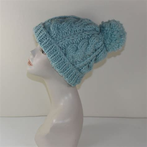 knitting pattern chunky hat printed knit instructions super chunky cable bobble