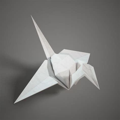 Origami 3d Models - 3d model of origami paper swan