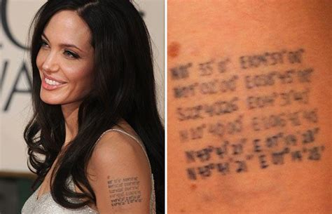 angelina jolie tattoo meaning jolies tattoos tattoos meanings