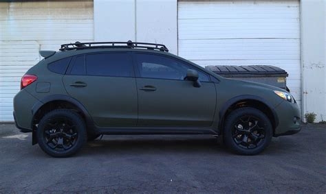 subaru crosstrek lifted blue crosstrek custom roof rack wheels pinterest roof