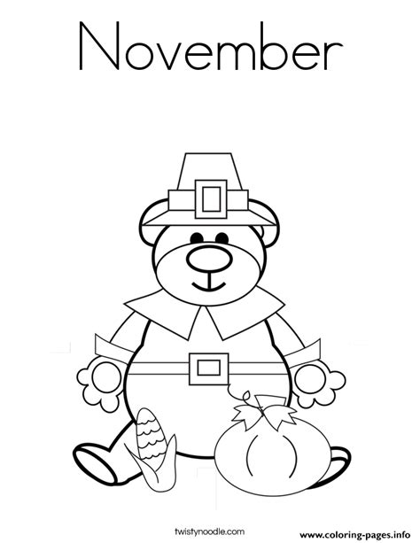 coloring page for november thankful november coloring pages printable