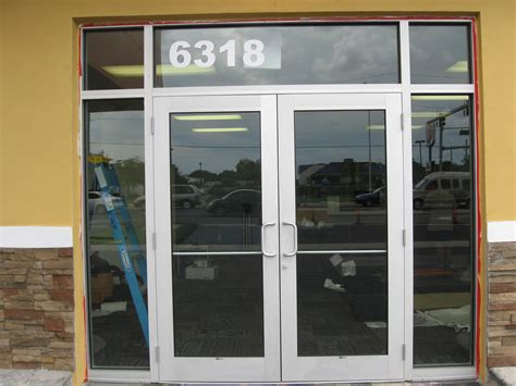 Glass Door For Shop Gulfside Glass And Mirror Tarpon Springs Florida