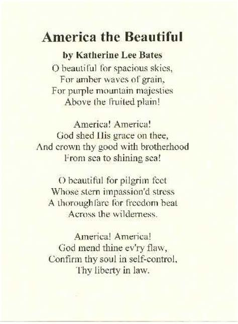 printable lyrics america the beautiful america the beautiful lyrics www pixshark com images