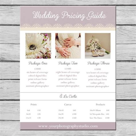 Items Similar To Wedding Photography Pricing Guide Template On Etsy Wedding Photography Pricing Template Free