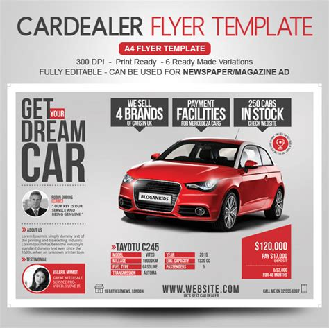 Auto Sales Flyer Templates Marketing Ideas For Car Dealers Yognel Marketplace Car Advertisement Template