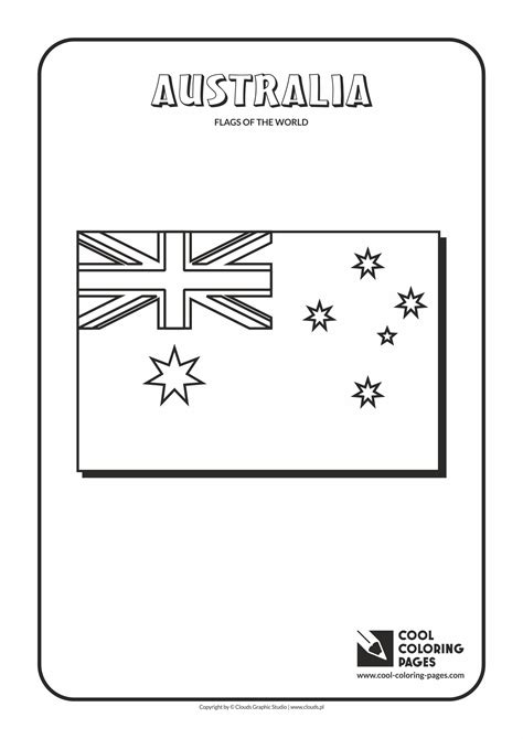Awesome Cool Coloring Pages Flags Of The World Australia Australian Coat Of Arms Colouring Page