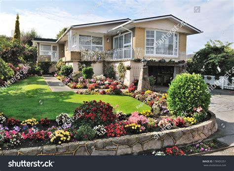 beautiful home  beautiful flowers garden property