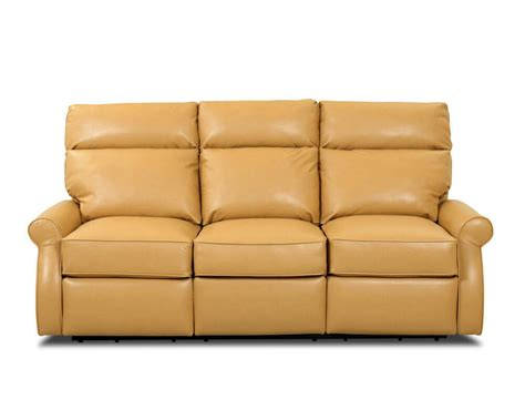 usa made furniture sofa comfort design leslie reclining leather couch clp727rs
