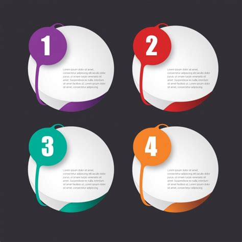 design template infographic template design vector free