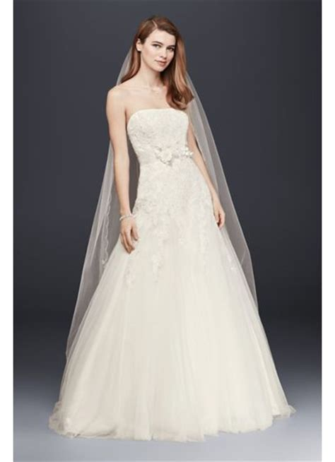 tulle lace wedding dress with all beading david s