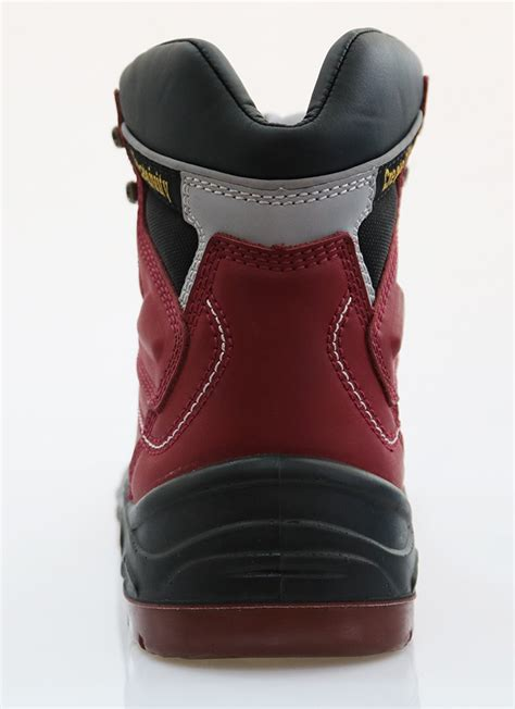 cow split nubuck leather safety boots