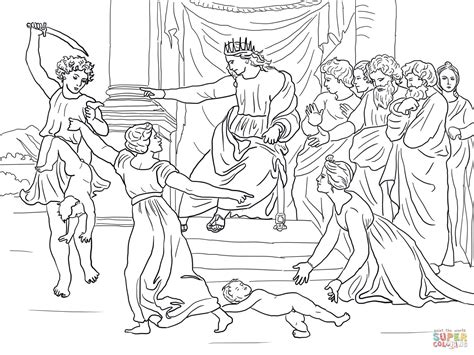coloring pages for king solomon judgment of solomon coloring page free printable