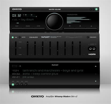 onkyo winamp modern skin v2 by hyar on deviantart
