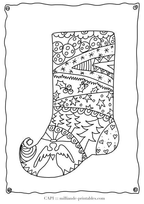 christmas stocking to color free printable christmas