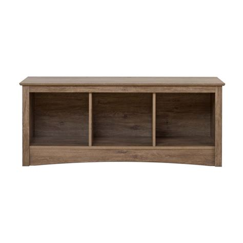 3 cubby storage bench 3 cubby storage bench in drifted gray dsc 4820