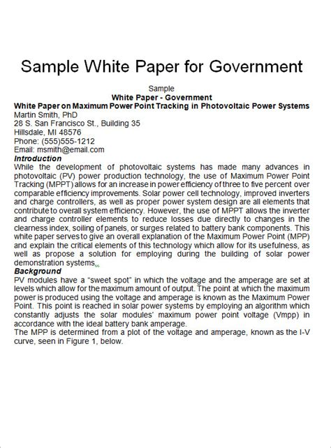 how to write a white paper format white paper templates 9 documents pdf word