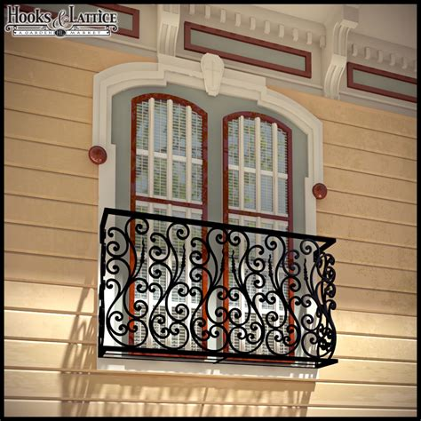 House Entry Designs aubergine faux balcony railing