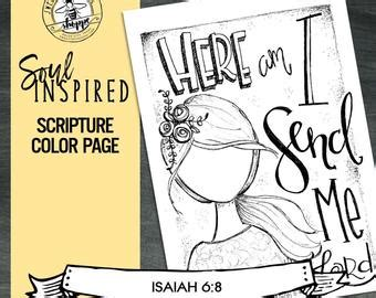 Isaiah 6 Coloring Page by Soul Inspired Scripture Color Page Print By