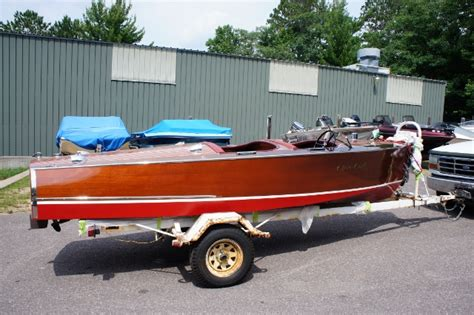 chris craft boat trailers chris craft 17 inboard runabouts used in three lakes wi