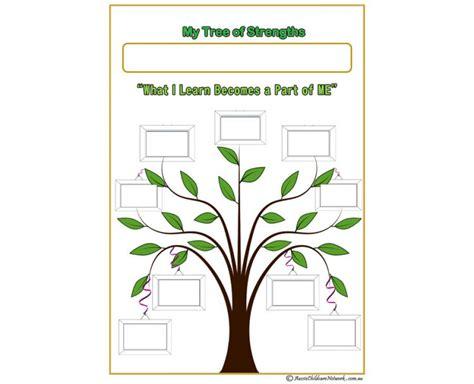My Tree Of Strengths Aussie Childcare Network Child Portfolio Templates