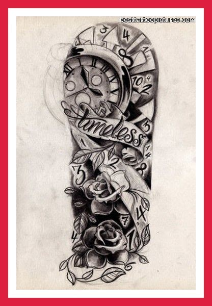 clock half sleeve tattoo designs half sleeve images designs