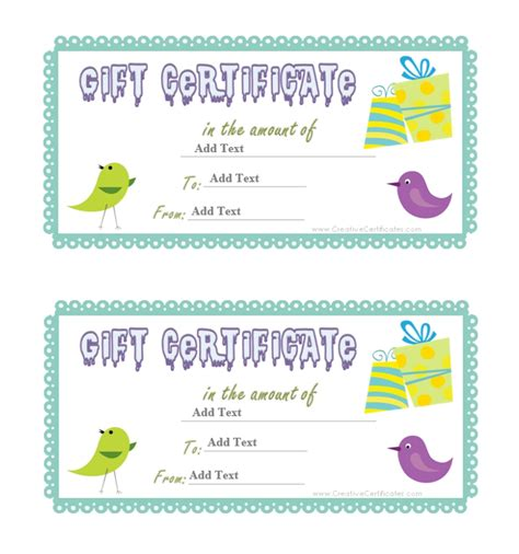 gift certificate template word dc design