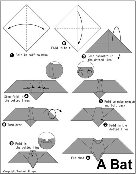 How To Make Bat With Paper - 69 best images about bat origami on